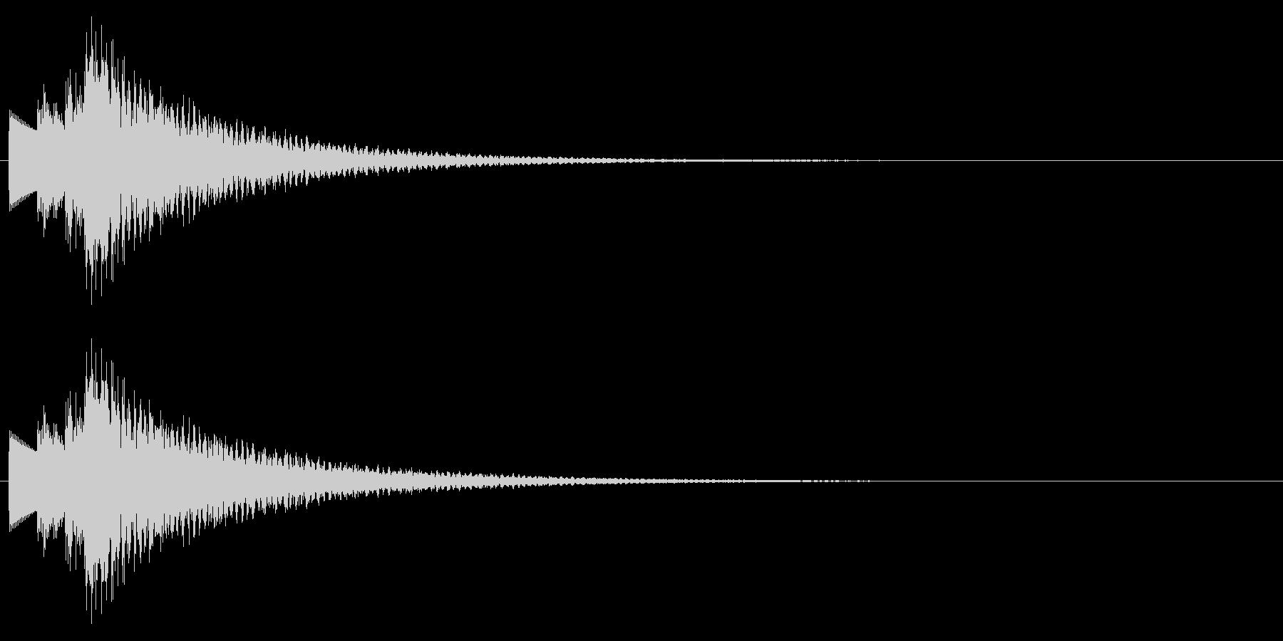 C-Maj、ハープシコード系のMEの未再生の波形