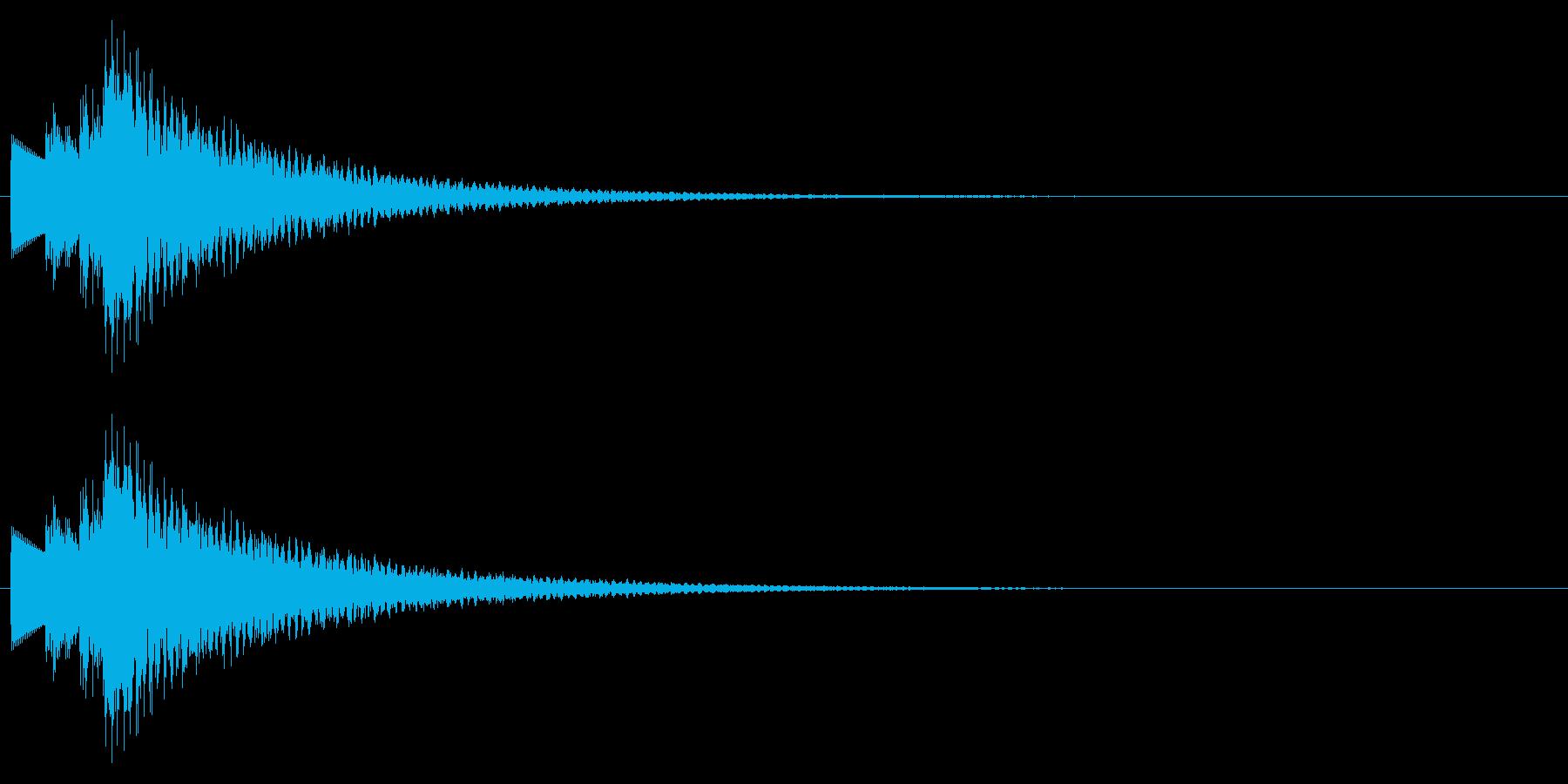 C-Maj、ハープシコード系のMEの再生済みの波形