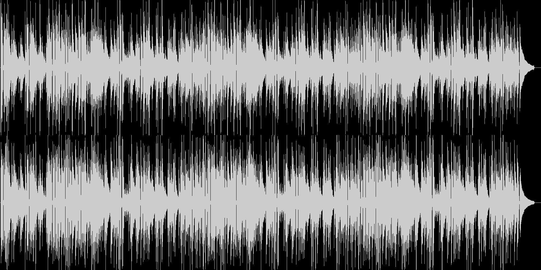 温かみのあるアコースティックギターソロの未再生の波形