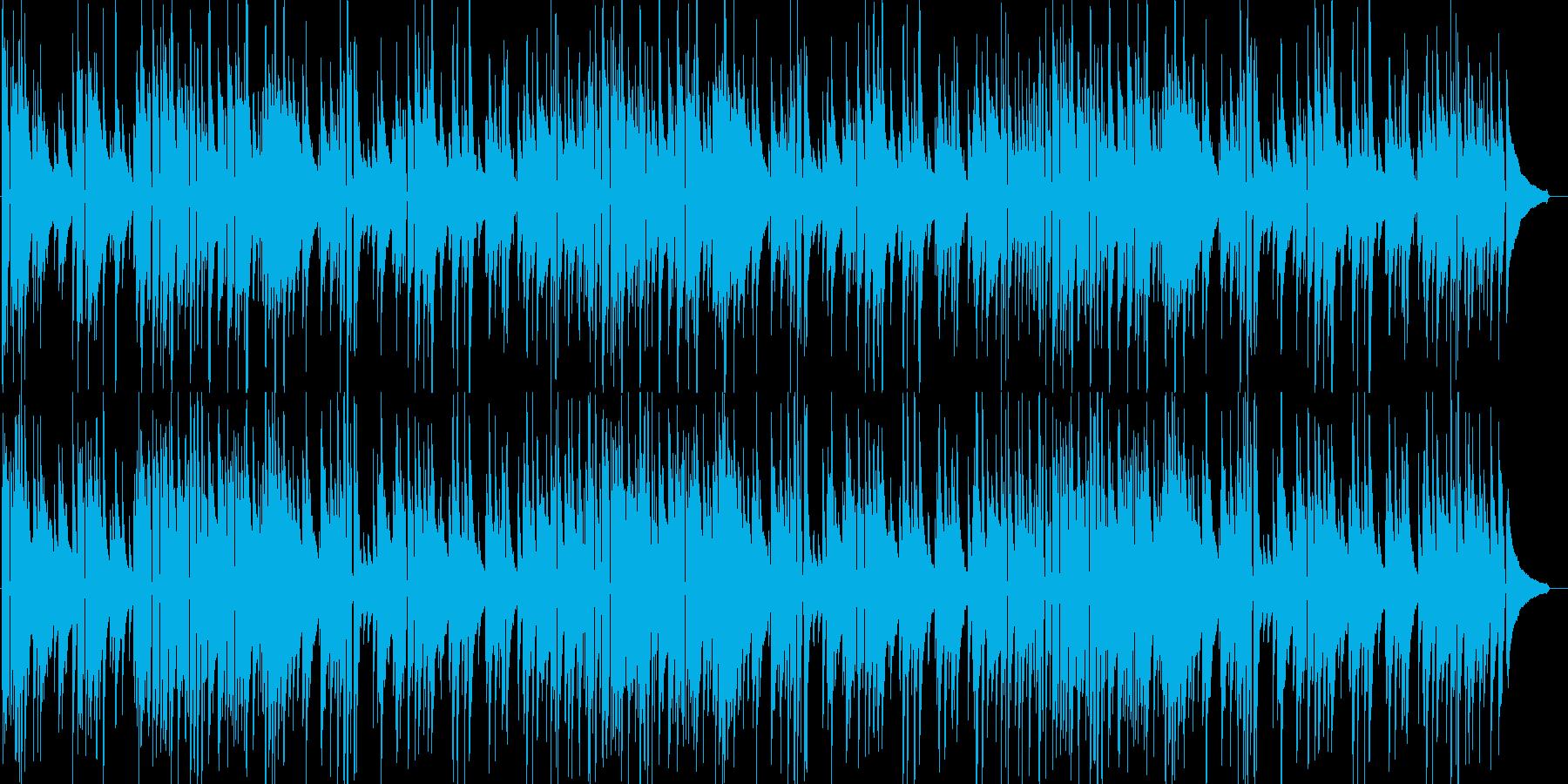 温かみのあるアコースティックギターソロの再生済みの波形