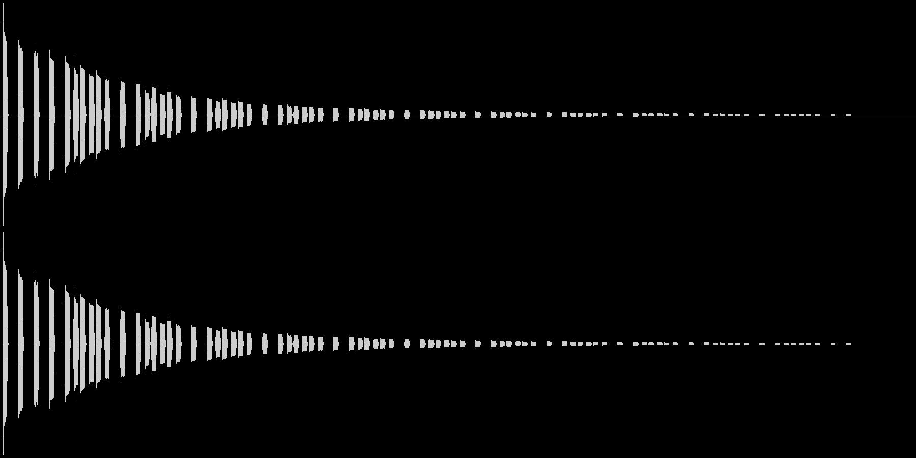 効果音。キララキララ音01(魔法の音)の未再生の波形