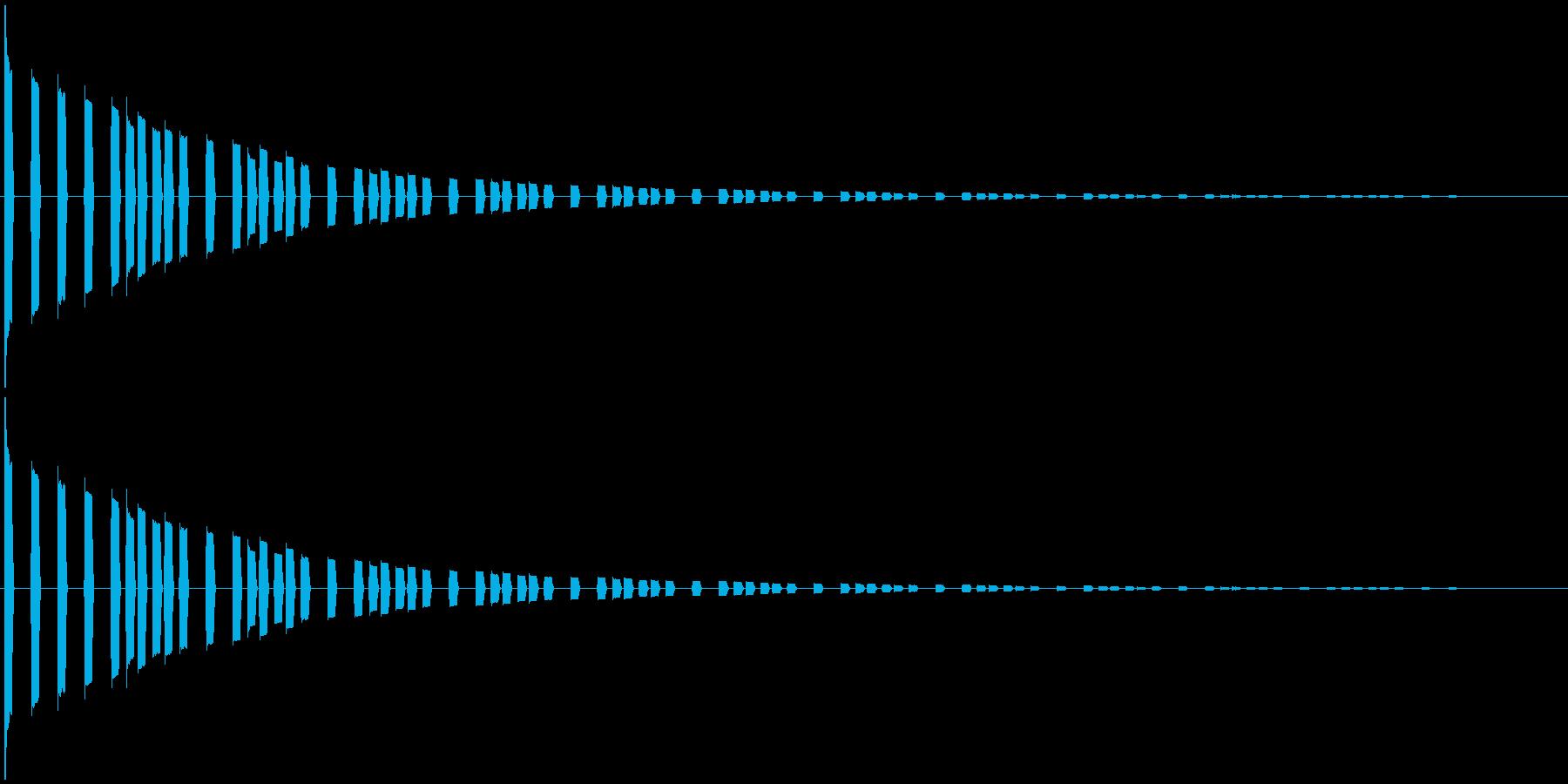 効果音。キララキララ音01(魔法の音)の再生済みの波形