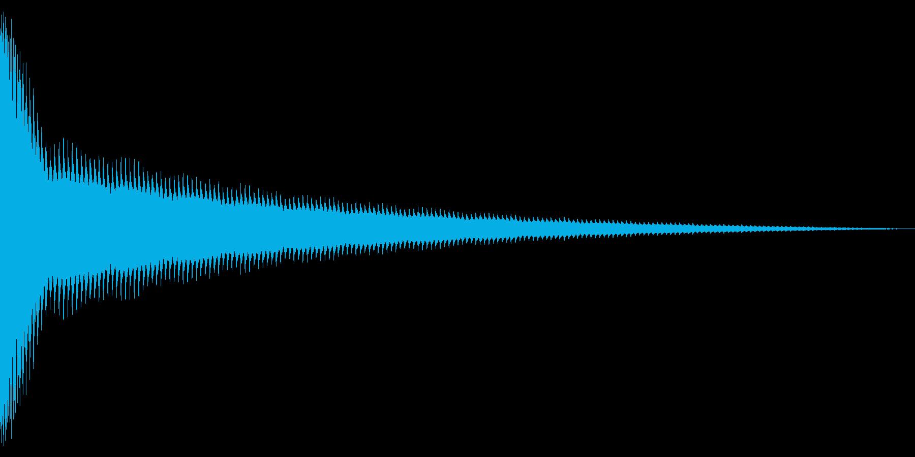 チーン!(8ビット風・ベルの音)の再生済みの波形
