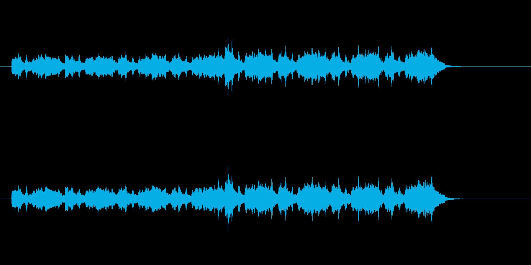 マイナー調バロック音楽風の再生済みの波形