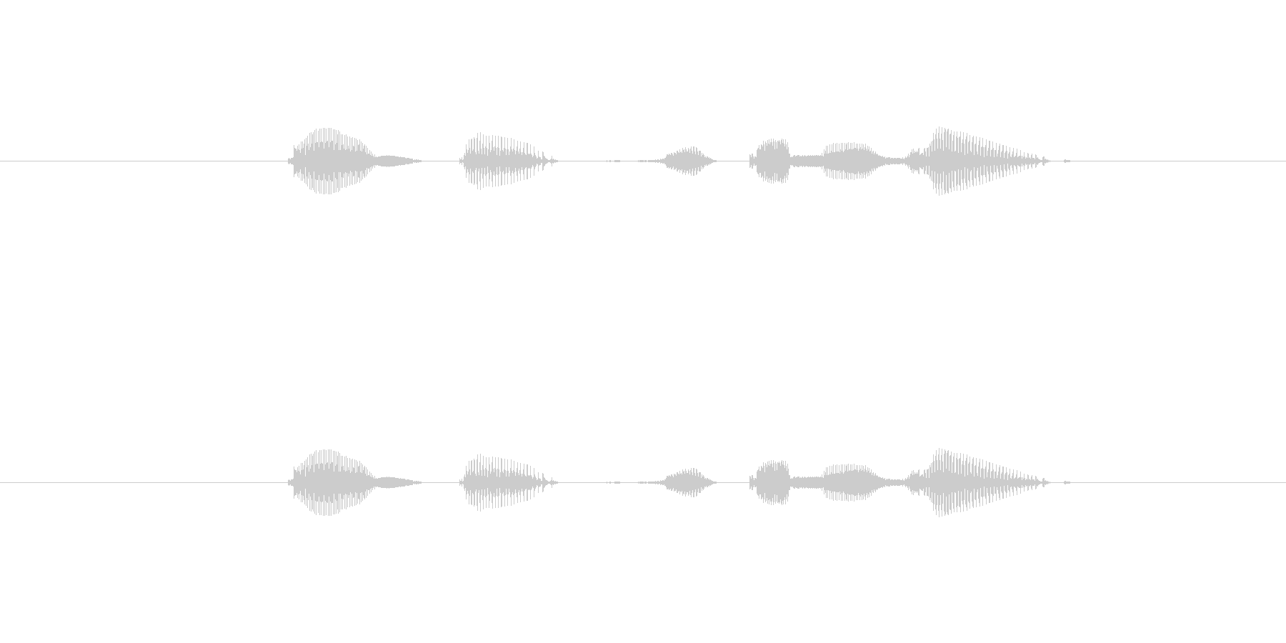 テンポ、120の未再生の波形