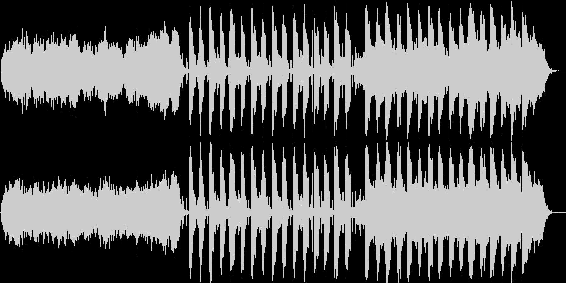 ダークな音色でコードメインの楽曲の未再生の波形