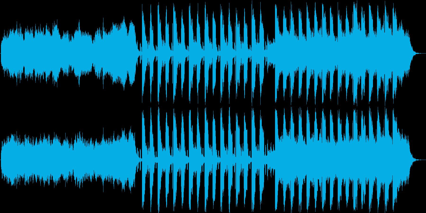ダークな音色でコードメインの楽曲の再生済みの波形