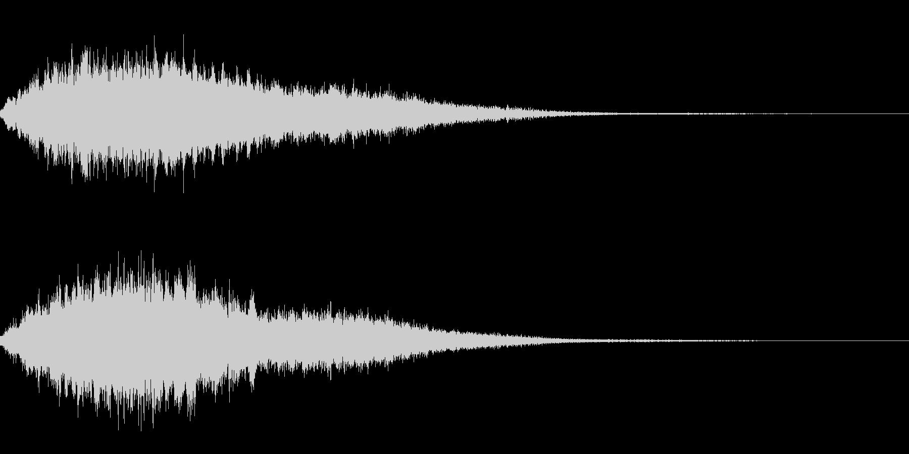 シャラララーンの未再生の波形