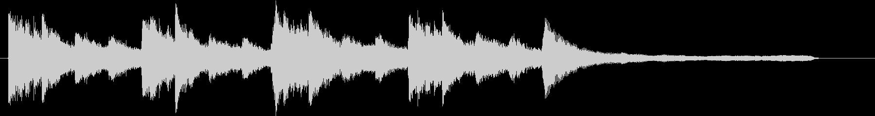 ピアノ・琴・ストリングスの美しい和風曲の未再生の波形