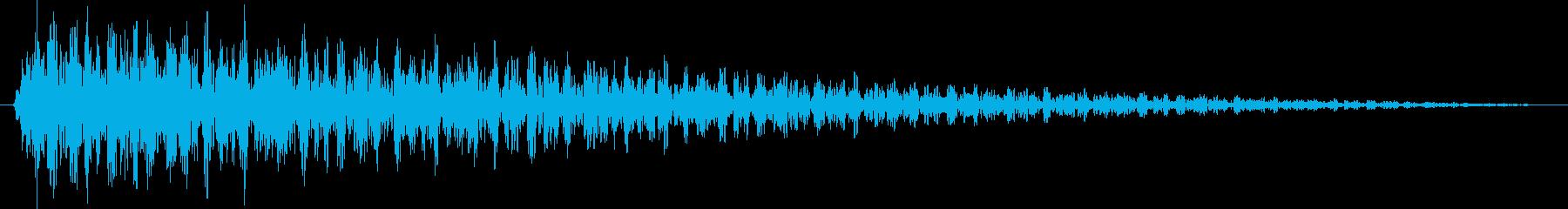ガーン【ショック、失敗、不正解】の再生済みの波形
