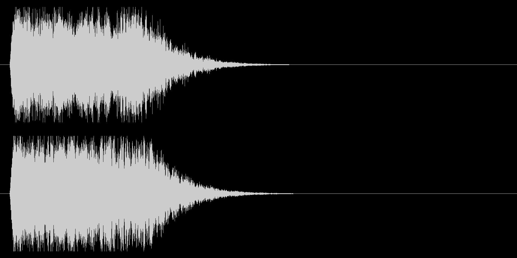 インパクト金属系シャキーンの未再生の波形