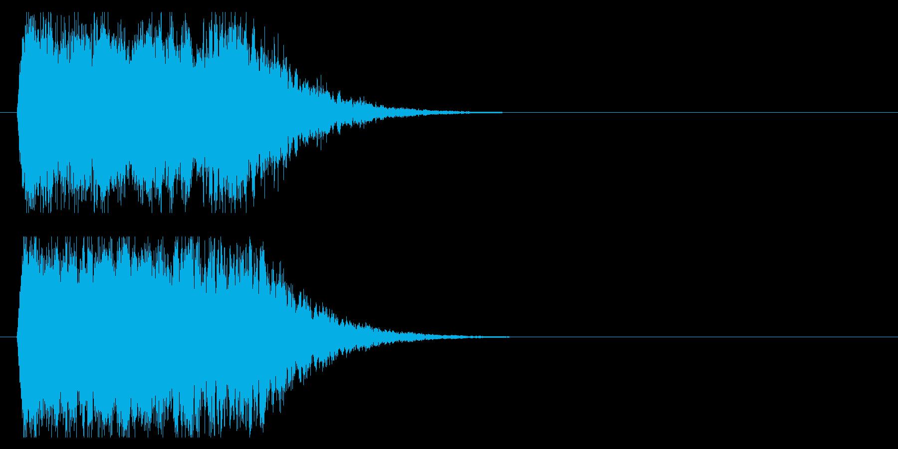 インパクト金属系シャキーンの再生済みの波形