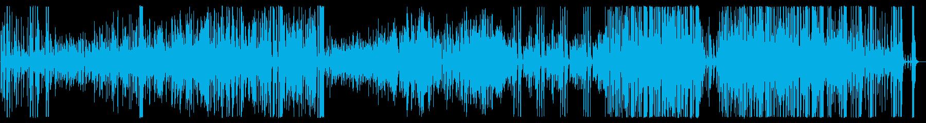 ミドルテンポの明るいビッグバンド曲の再生済みの波形
