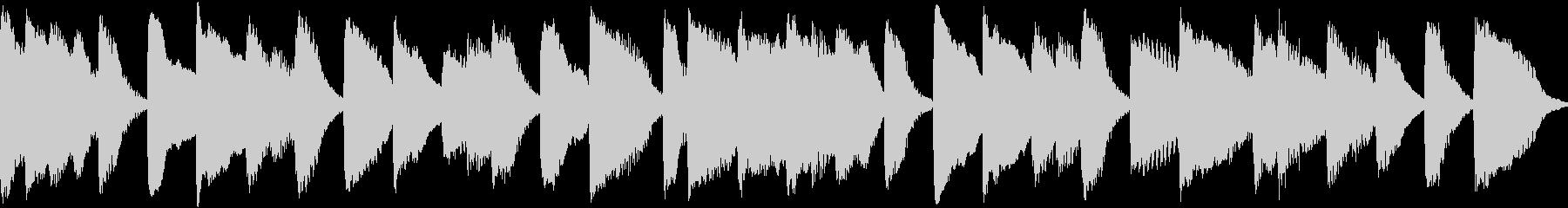 ループもできるピアノのジングルです。の未再生の波形