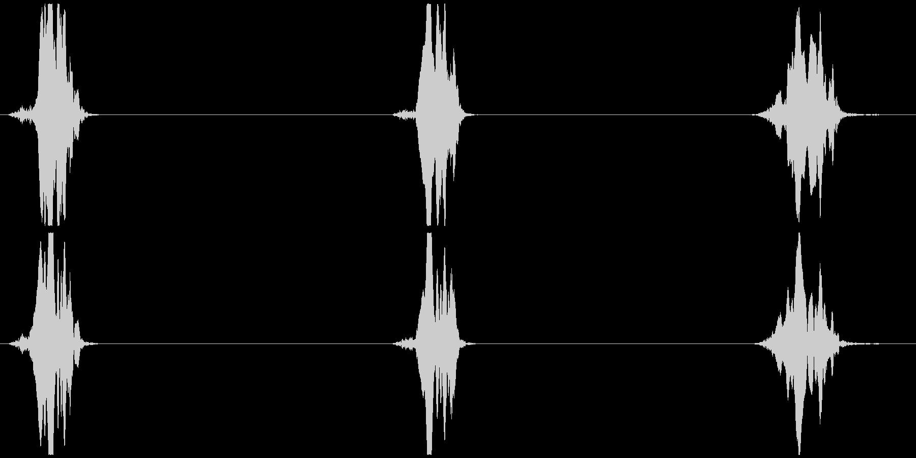 鳥の鳴き声 架空/想像 ヒヨッ×3の未再生の波形