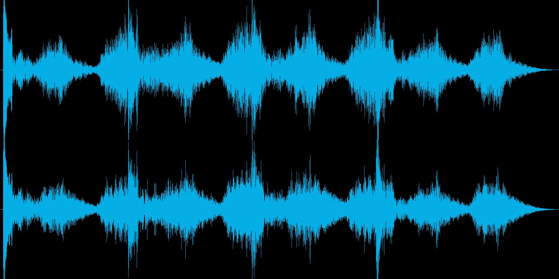 恐怖ホラー系ショートBGM。何かが起き…の再生済みの波形
