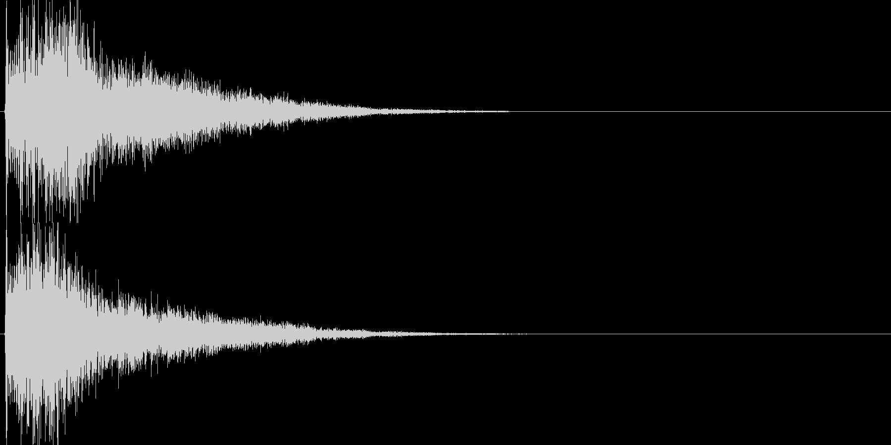 キラーン(決定音、起動音、ゲームアプリ)の未再生の波形
