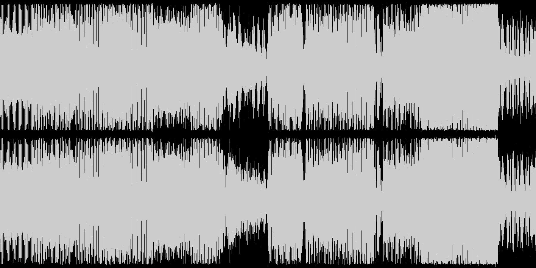 レトロゲームっぽい懐かしい雰囲気のBGMの未再生の波形