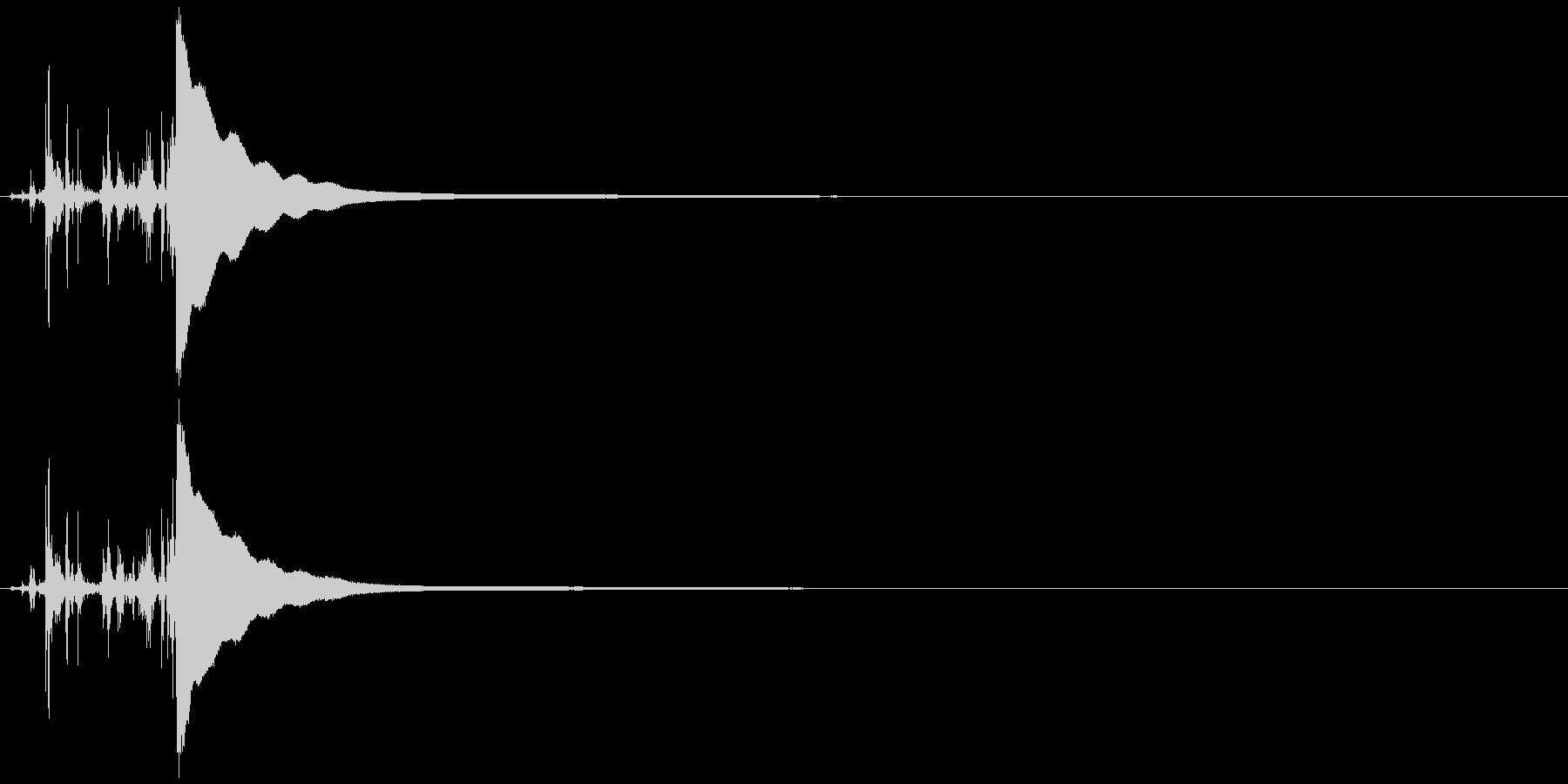 レジの音 カシャッ チーンの未再生の波形