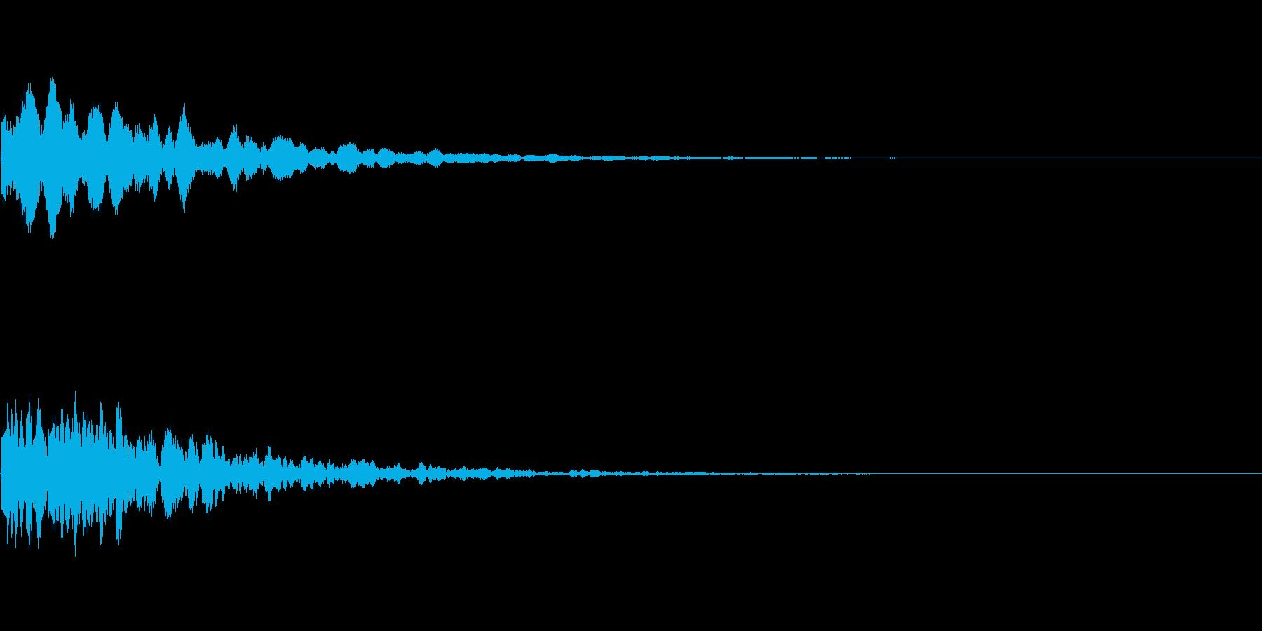 【SE 効果音】ぽわーんの再生済みの波形