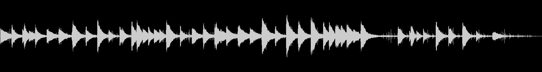 回想ピアノクラシックな歴史音源ノイズ調の未再生の波形