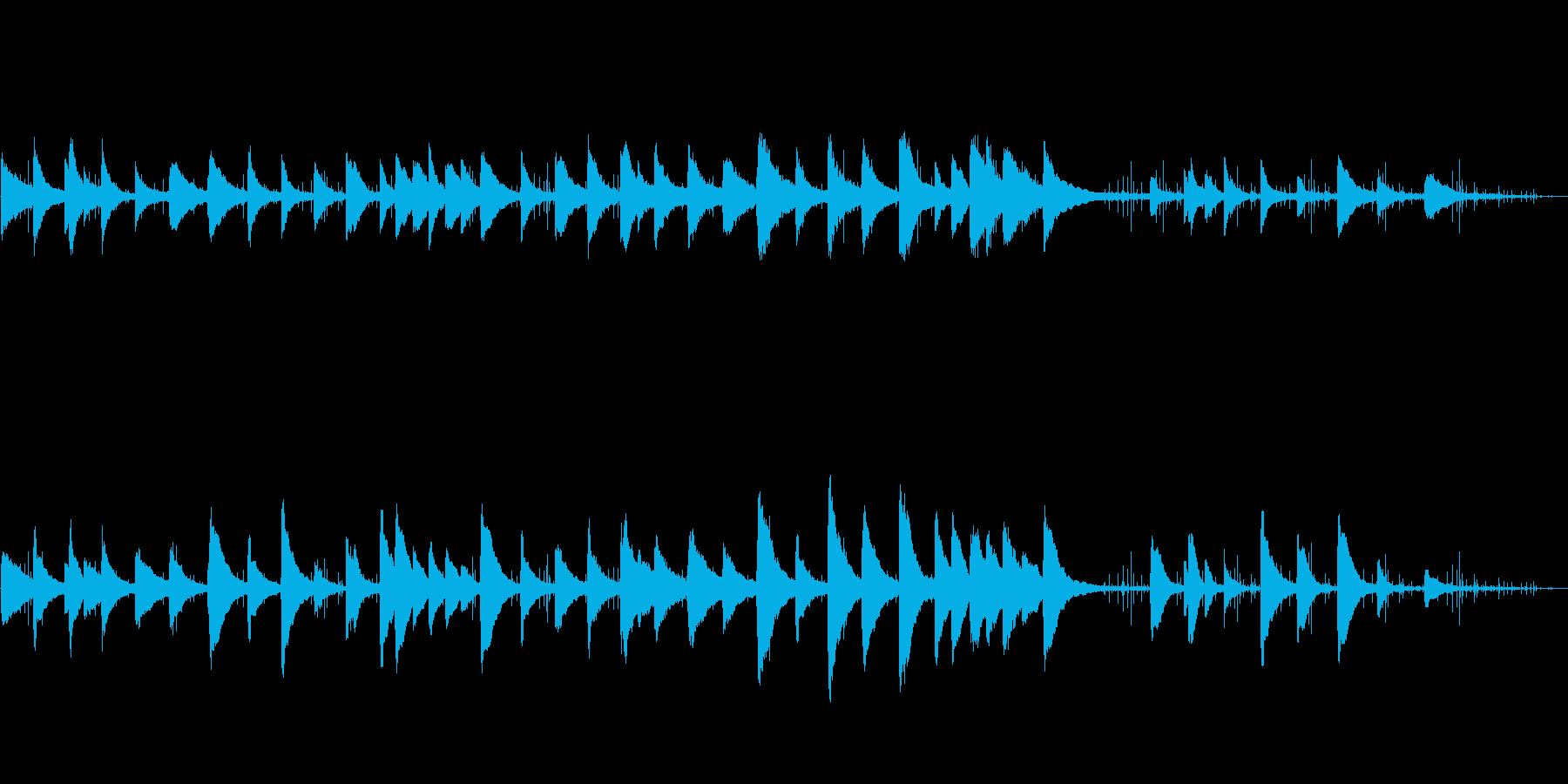 回想ピアノクラシックな歴史音源ノイズ調の再生済みの波形