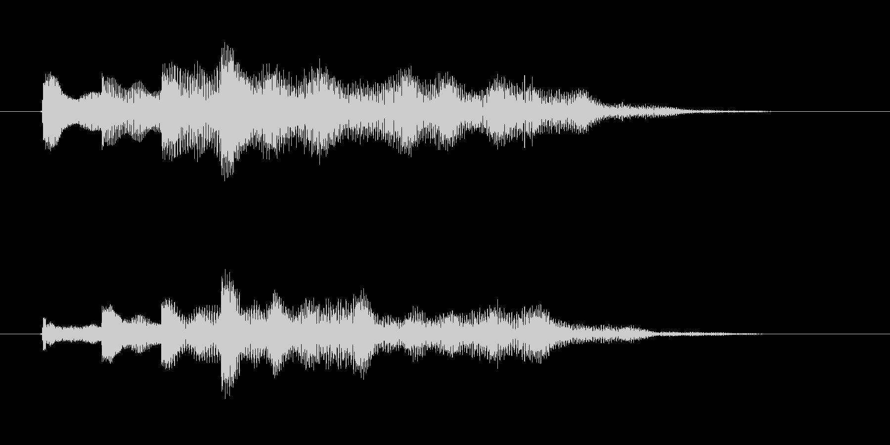 ゆらぎのチャイム音(短調)の未再生の波形