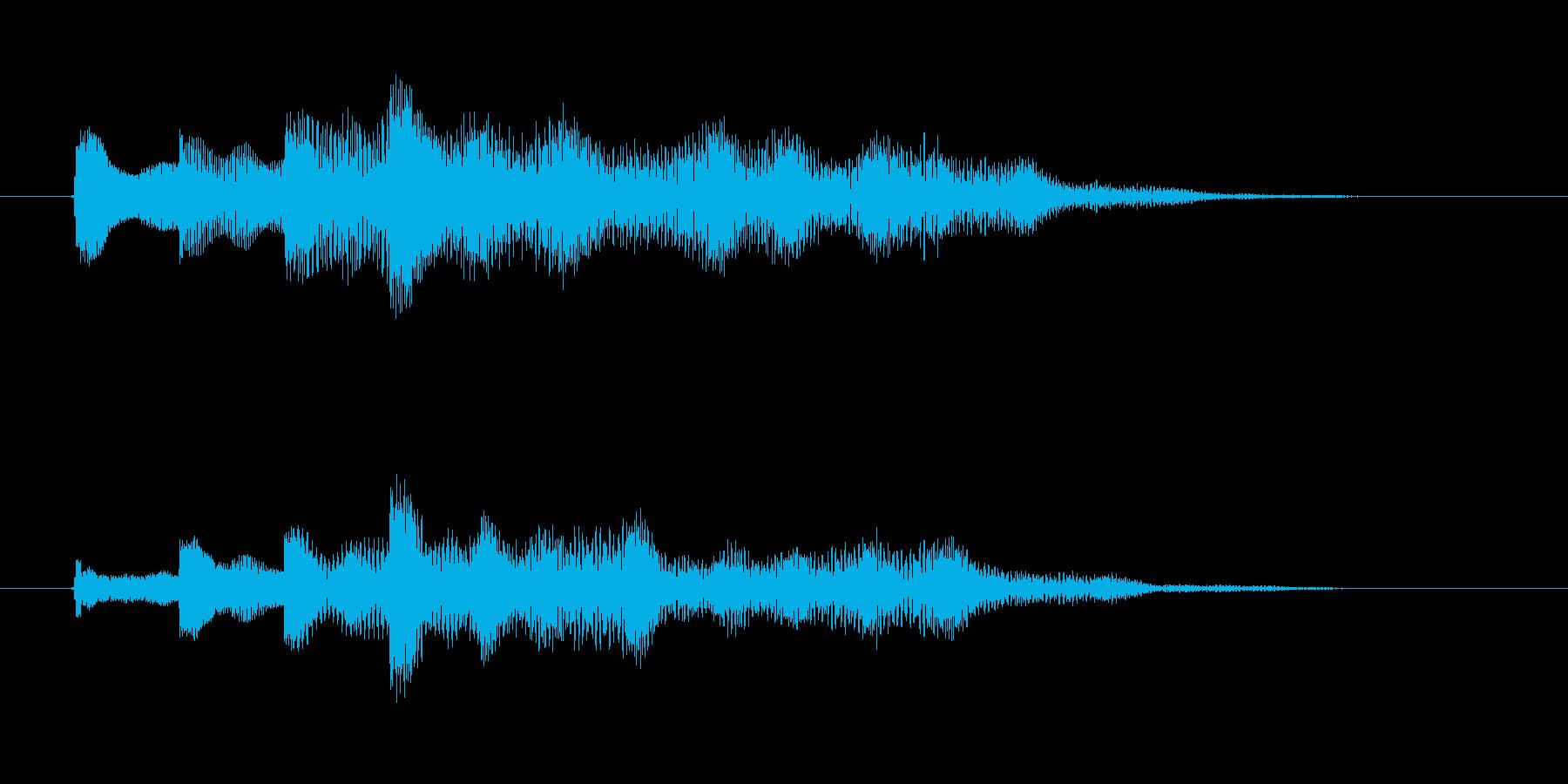 ゆらぎのチャイム音(短調)の再生済みの波形