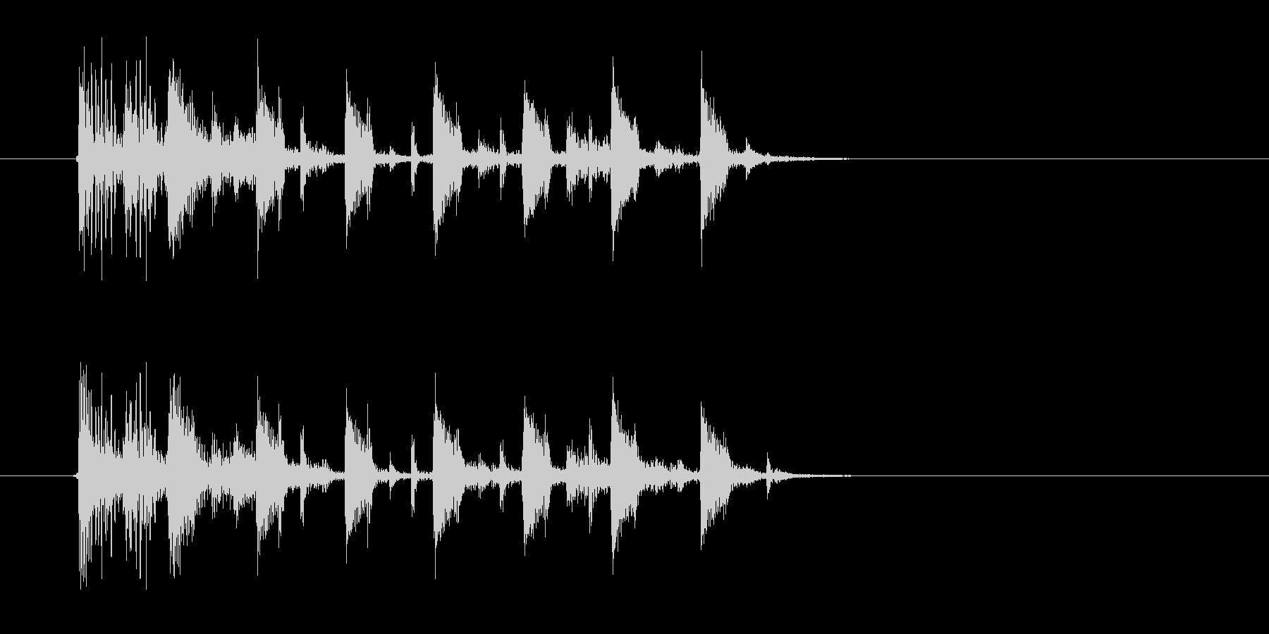 力強いドラムが響くジングルの未再生の波形