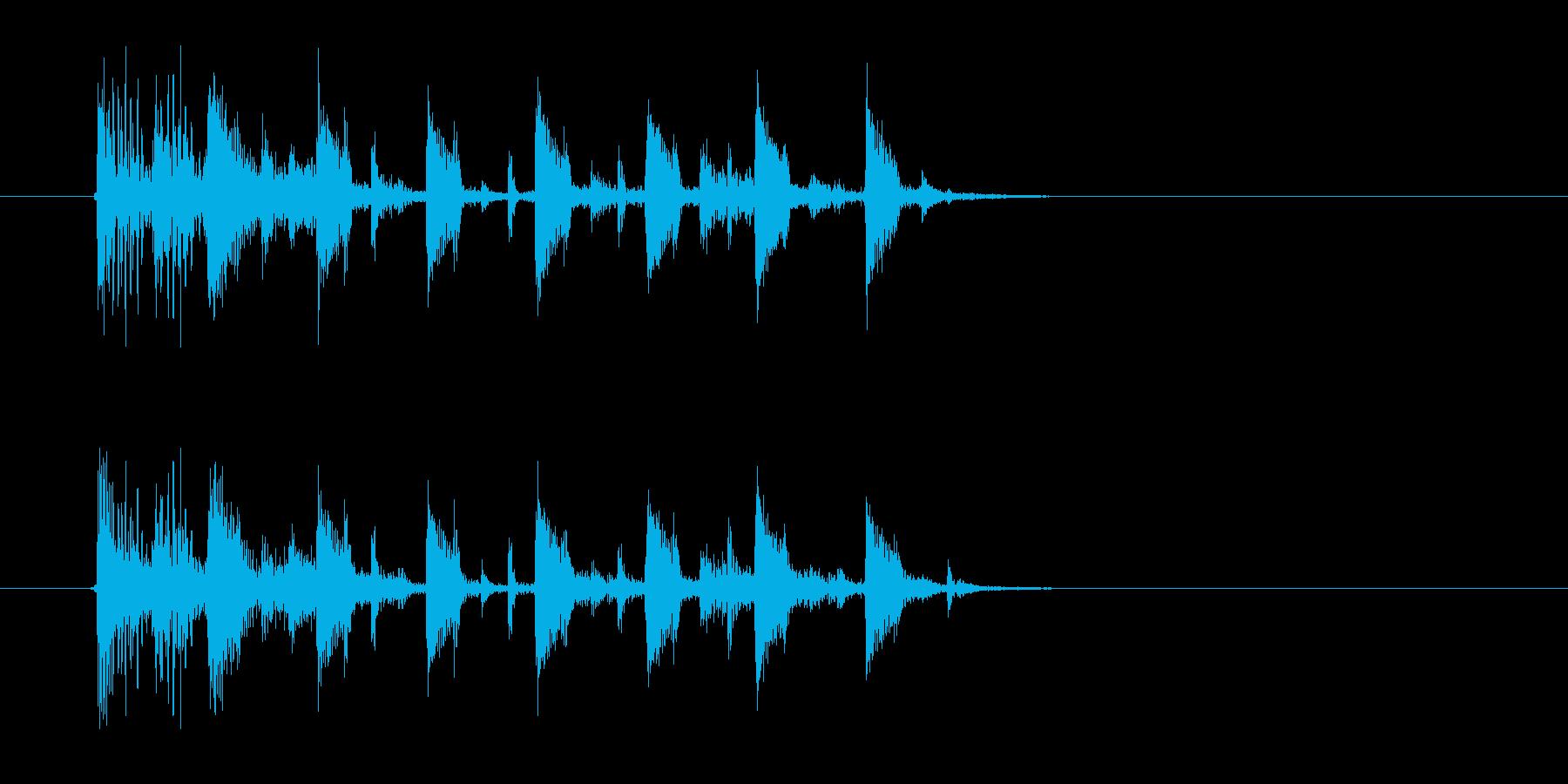 力強いドラムが響くジングルの再生済みの波形