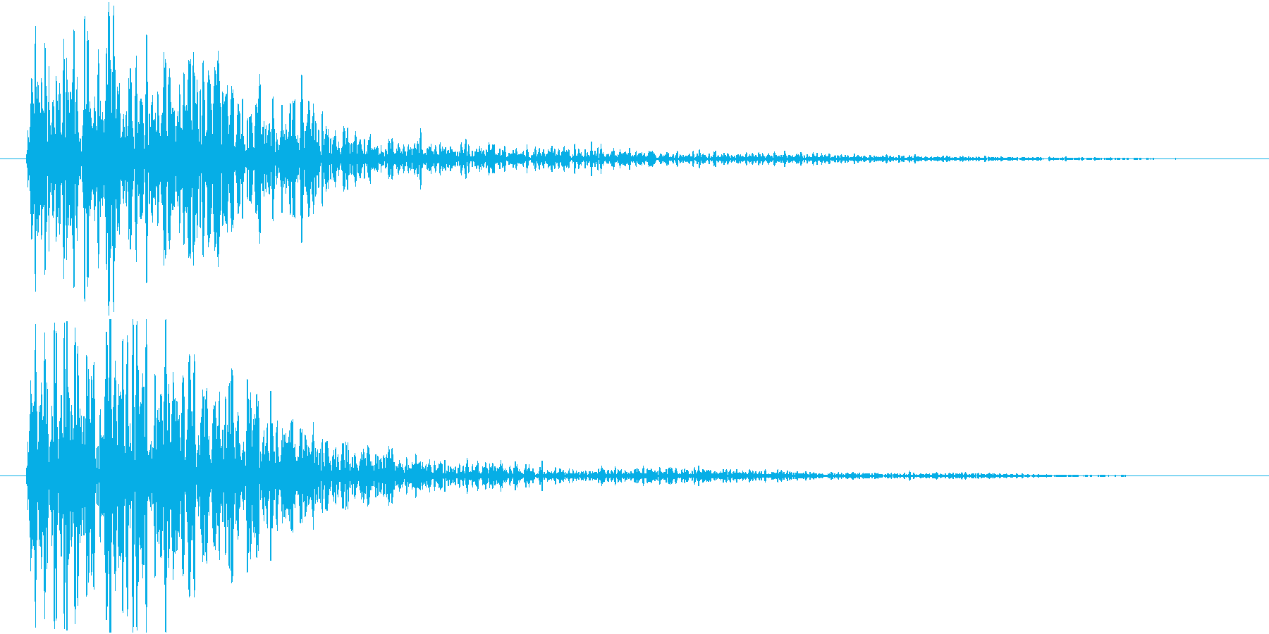 ドーン(低音・映画予告・インパクト)の再生済みの波形