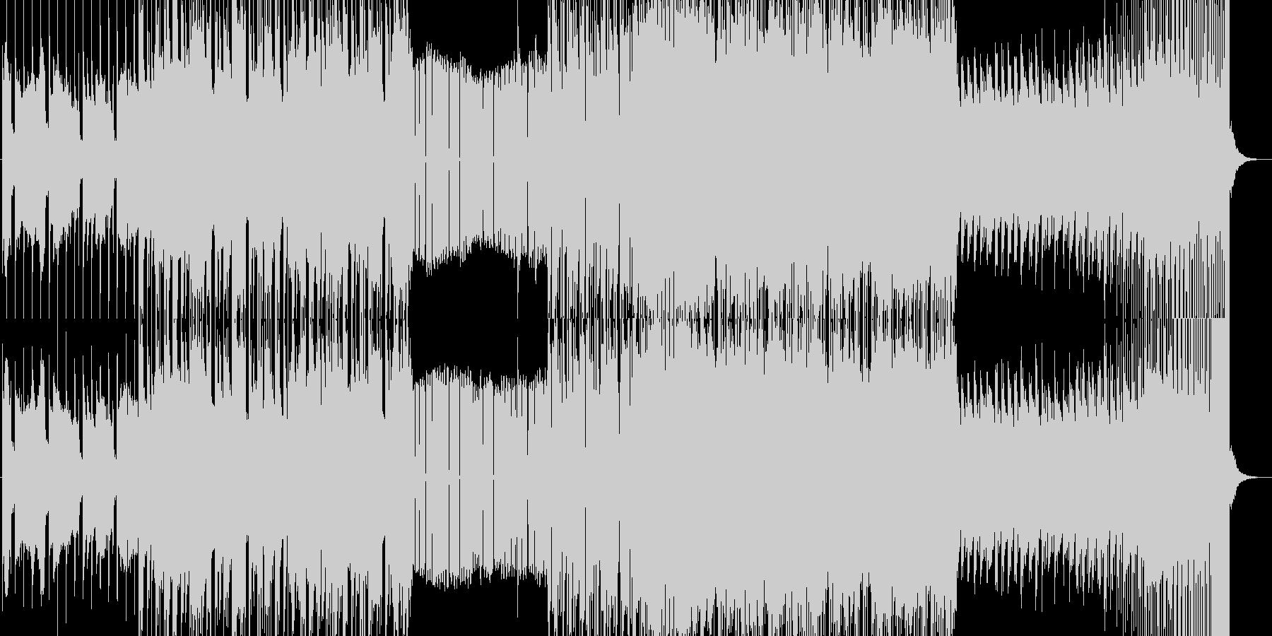 水の流れを意識したエレクトロチューンの未再生の波形