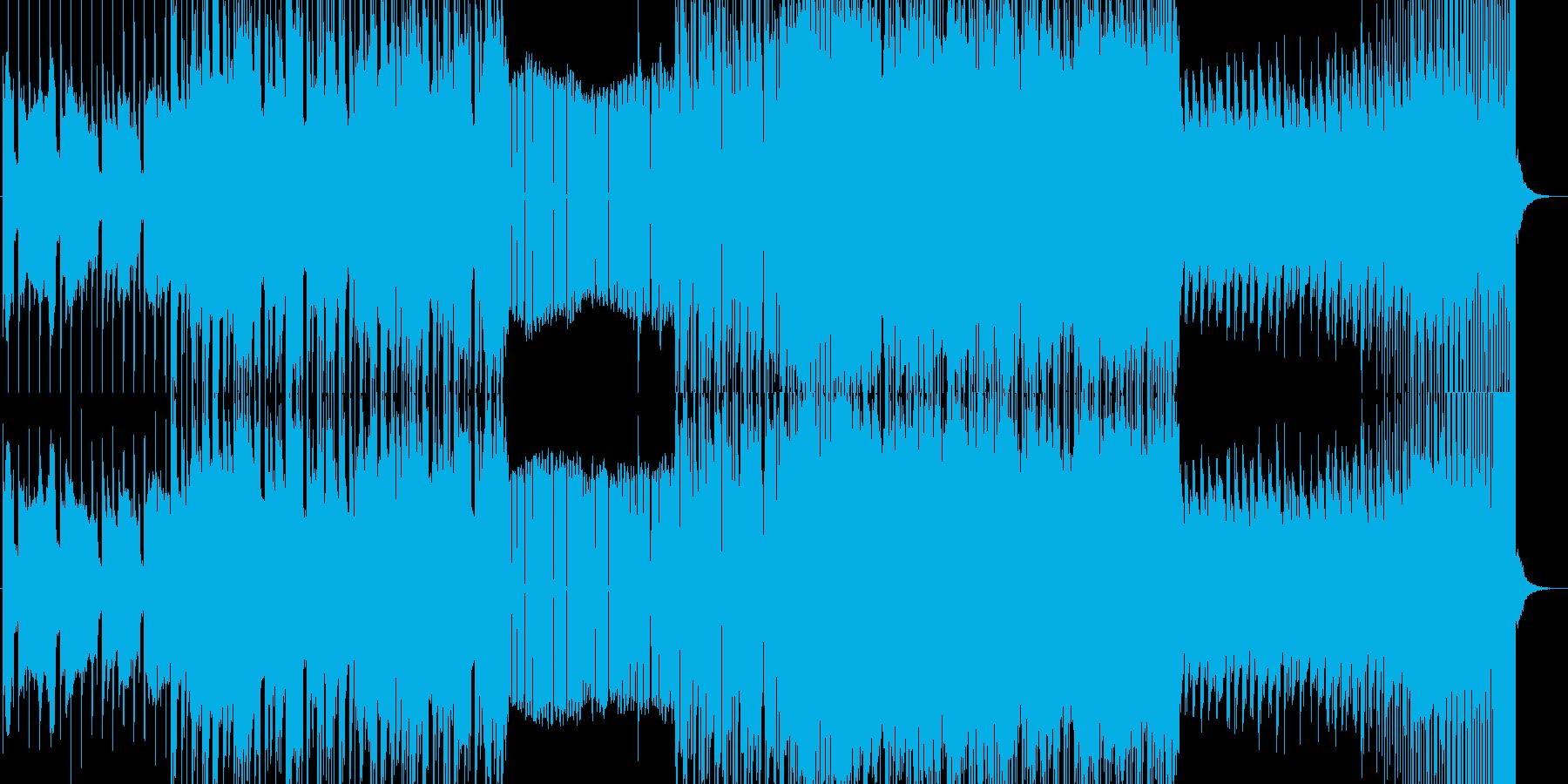 水の流れを意識したエレクトロチューンの再生済みの波形
