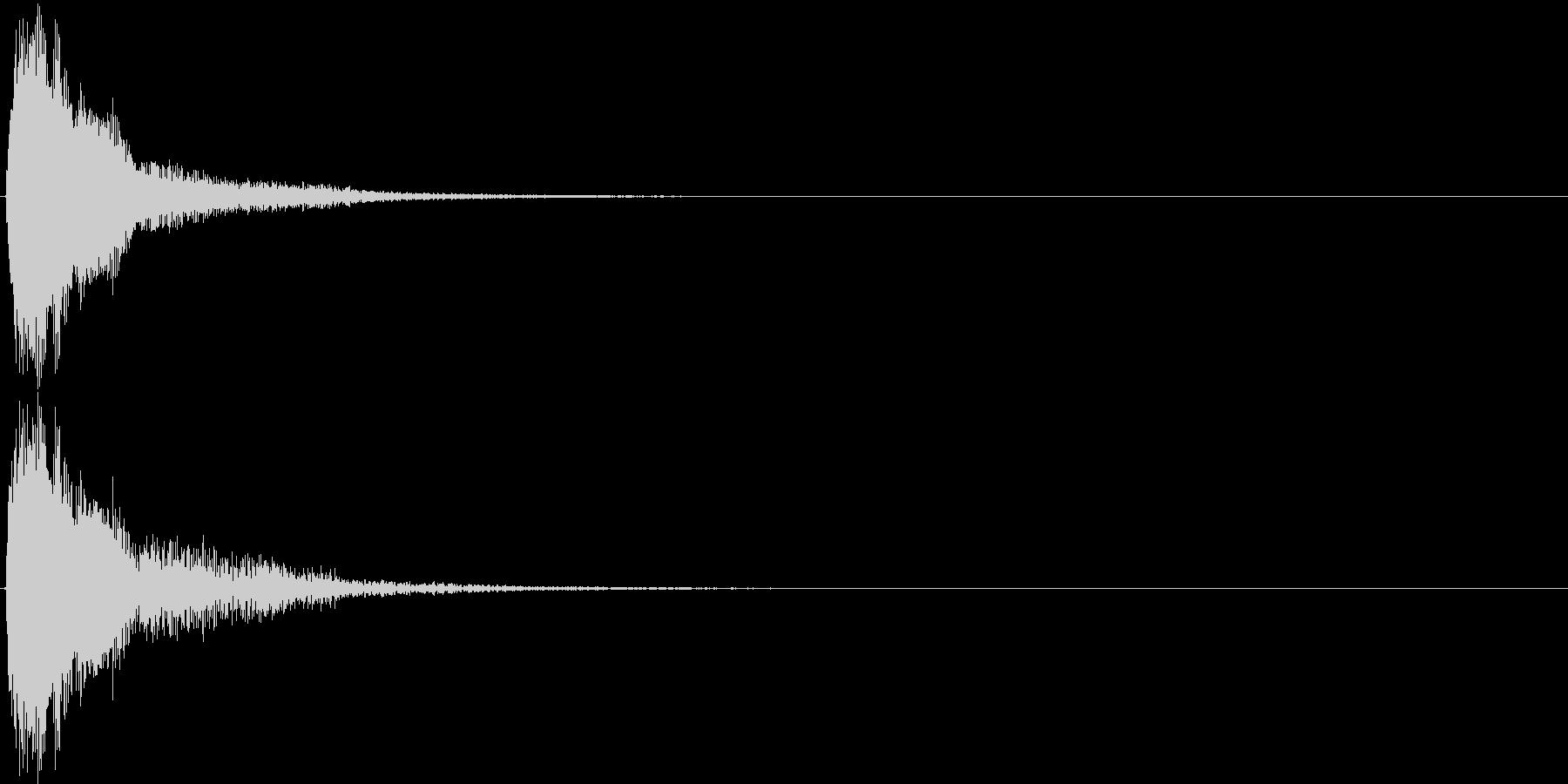 ジャン。クイズ出題・発表(高め)の未再生の波形