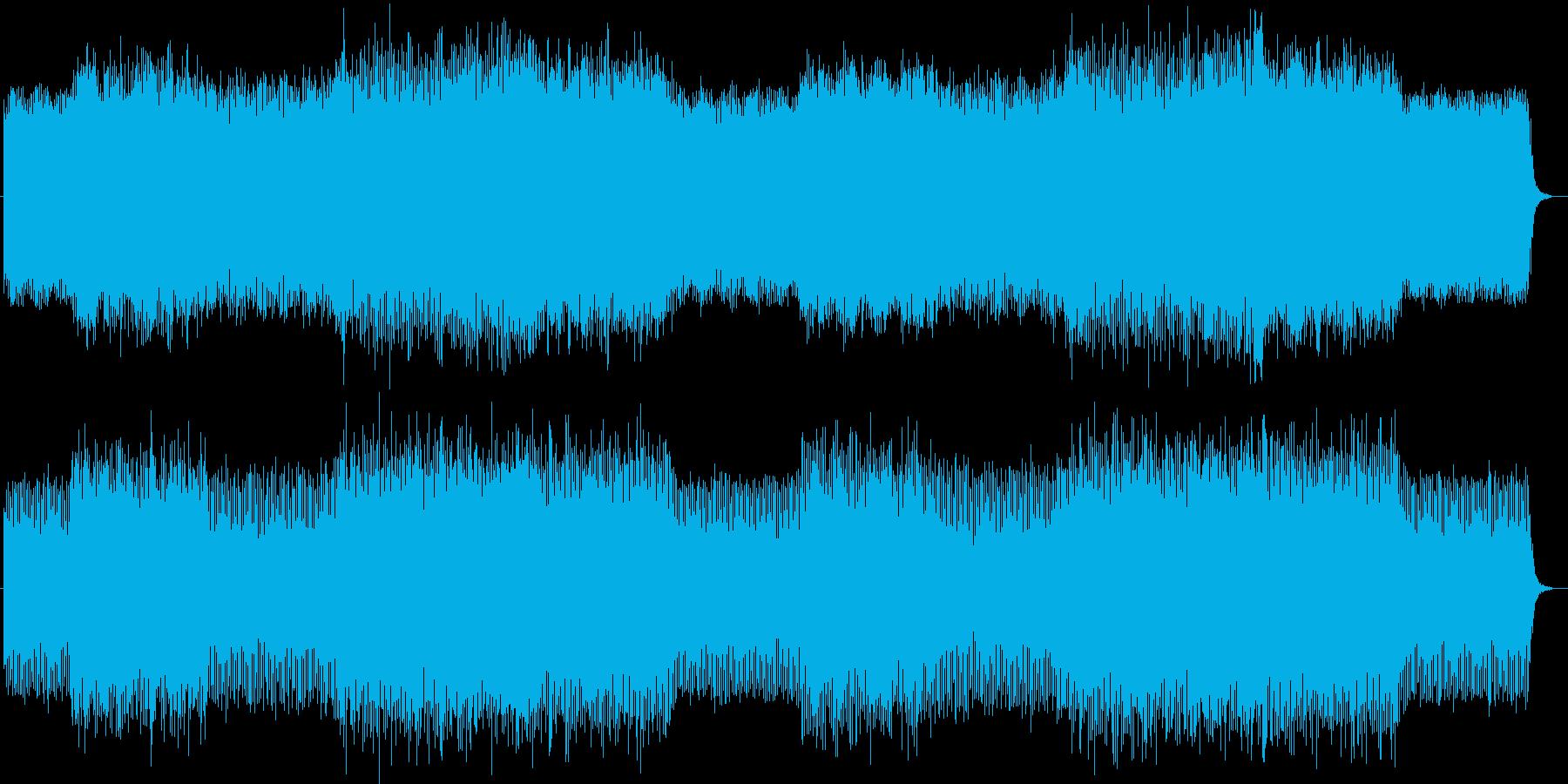シリアスなシンセサイザーサウンドの再生済みの波形
