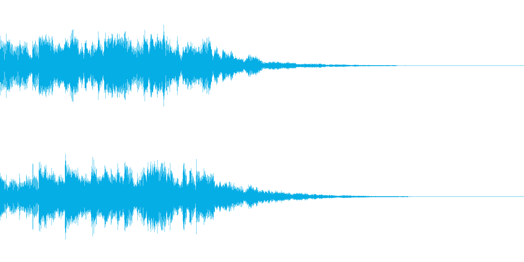近未来風シンセアルペジオのジングル1の再生済みの波形