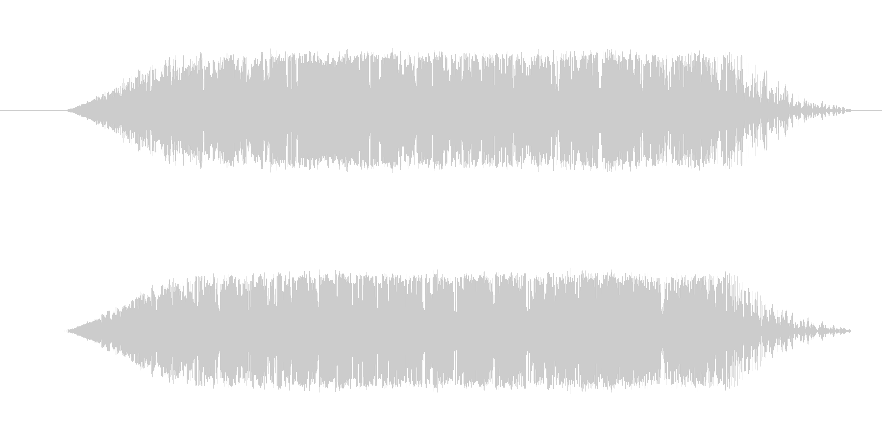 ギヨンと言うような音です。の未再生の波形