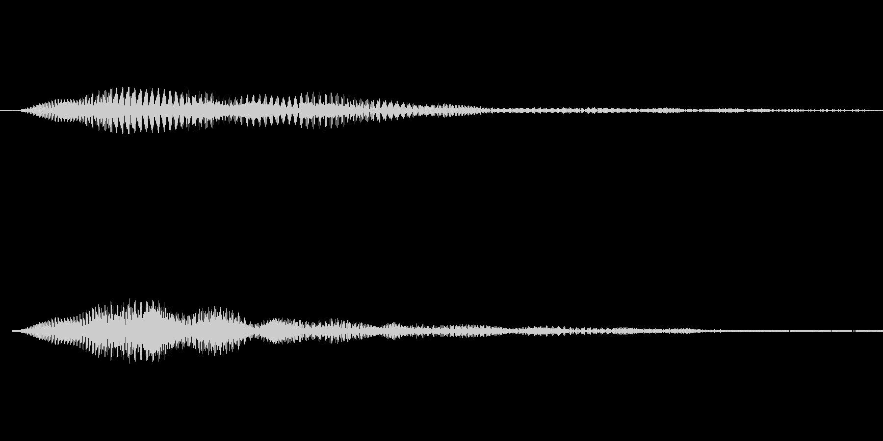 エレクトリックで神秘的なボタン音の未再生の波形