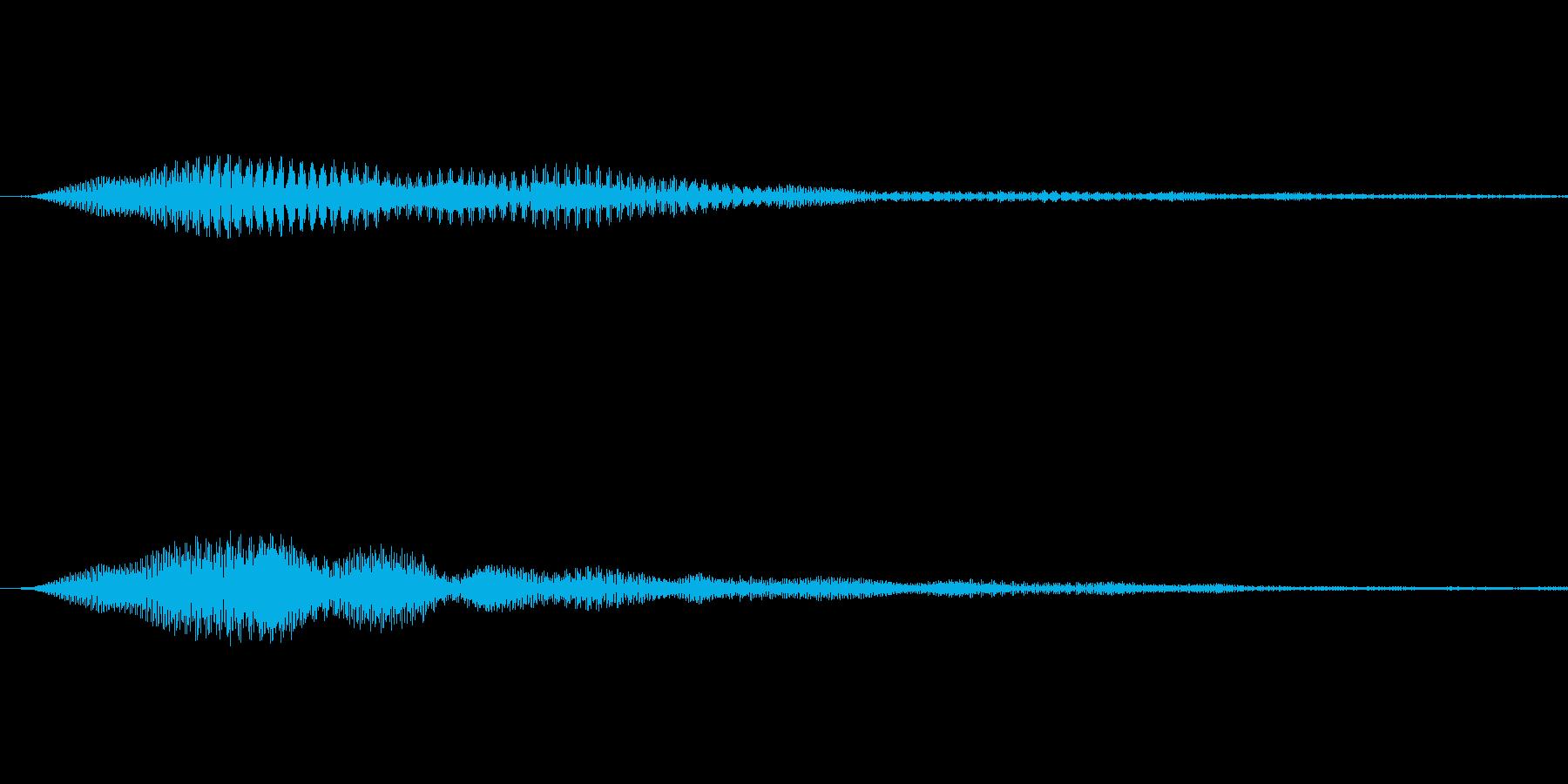 エレクトリックで神秘的なボタン音の再生済みの波形