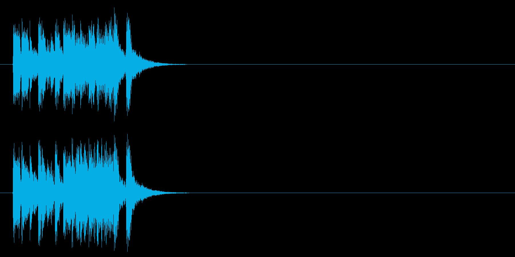 ジングル/ポップ(場面転換風)の再生済みの波形