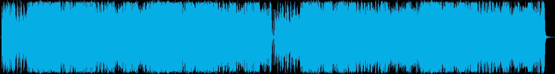 未来的な電子Pops曲の再生済みの波形