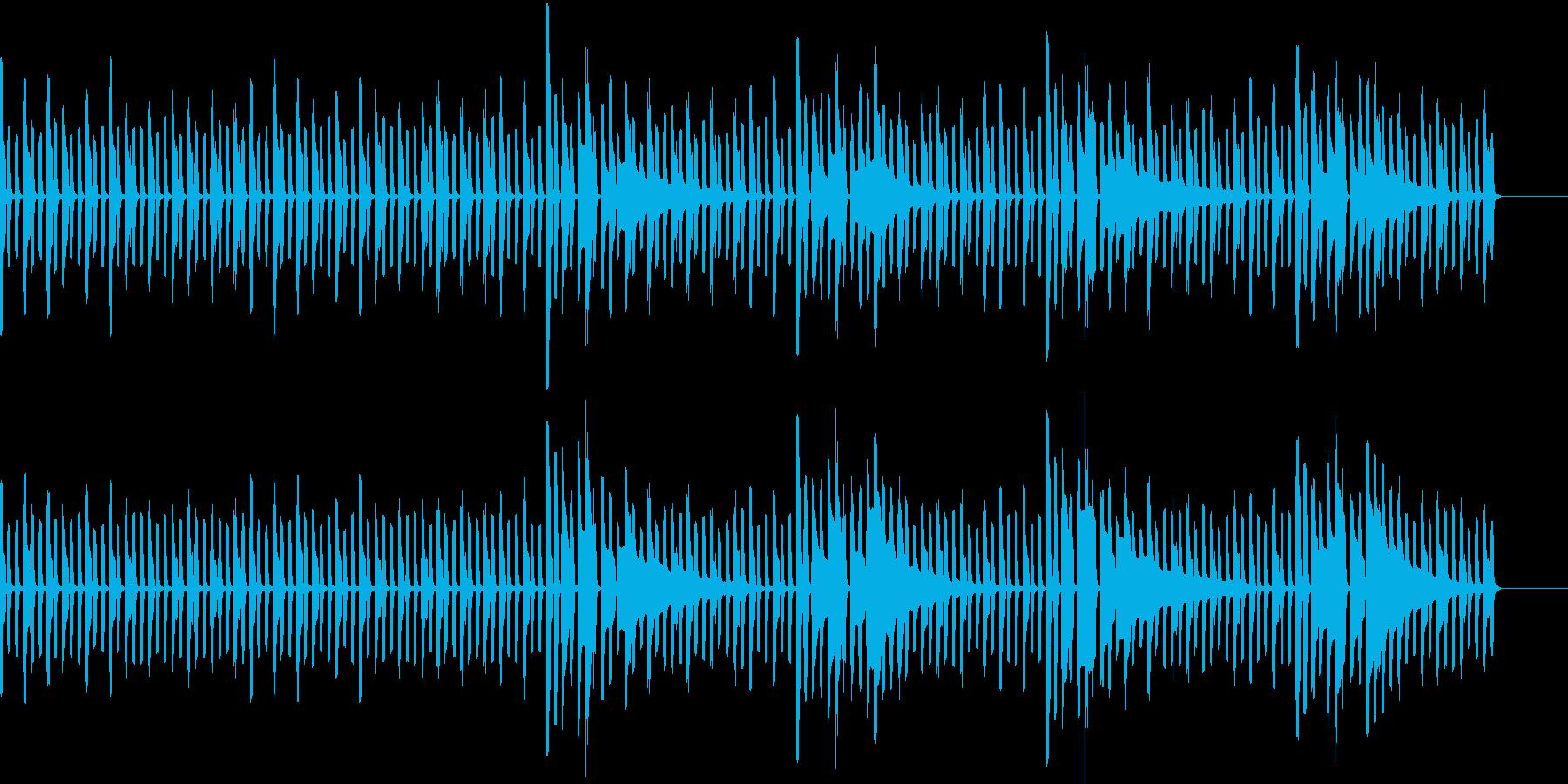 ドット絵が動いているイメージの再生済みの波形