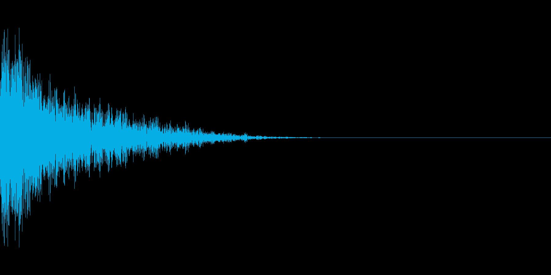 重めの銃声音の再生済みの波形