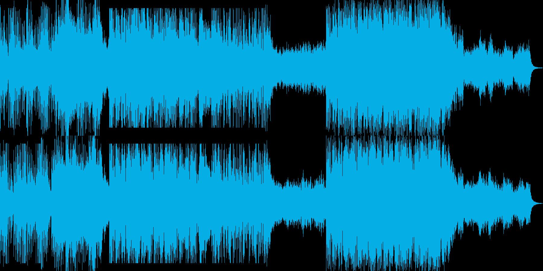 和のテイストのバトル系BGMの再生済みの波形