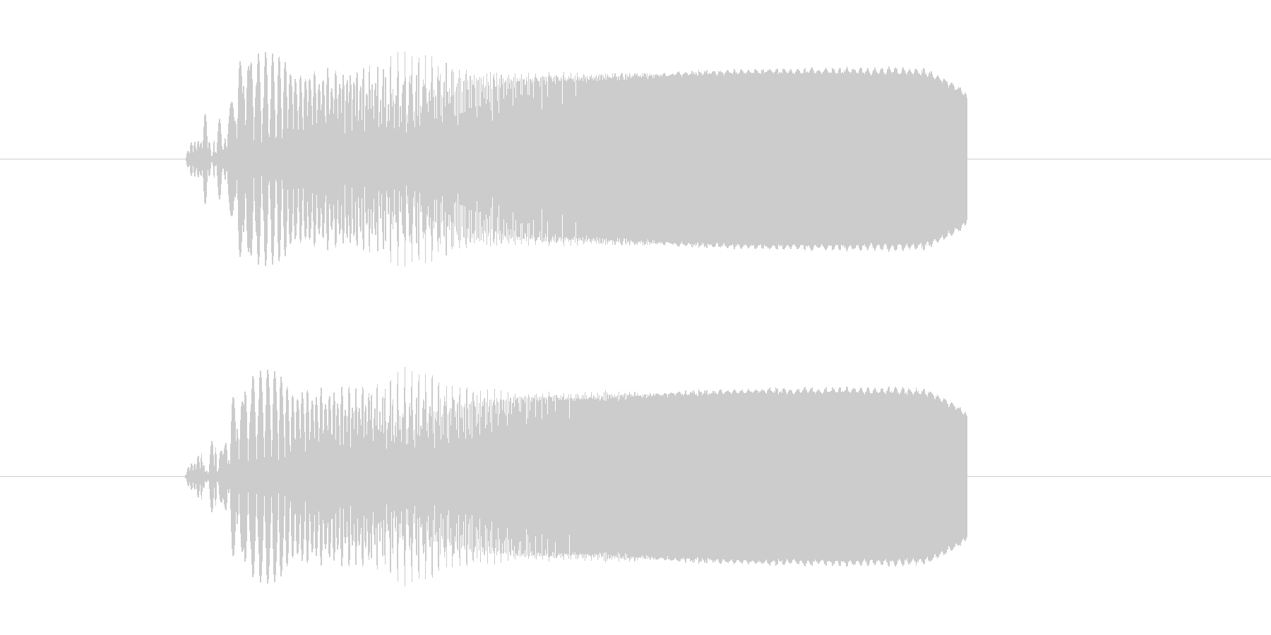 ビビビビビュ!SF系電子音の未再生の波形