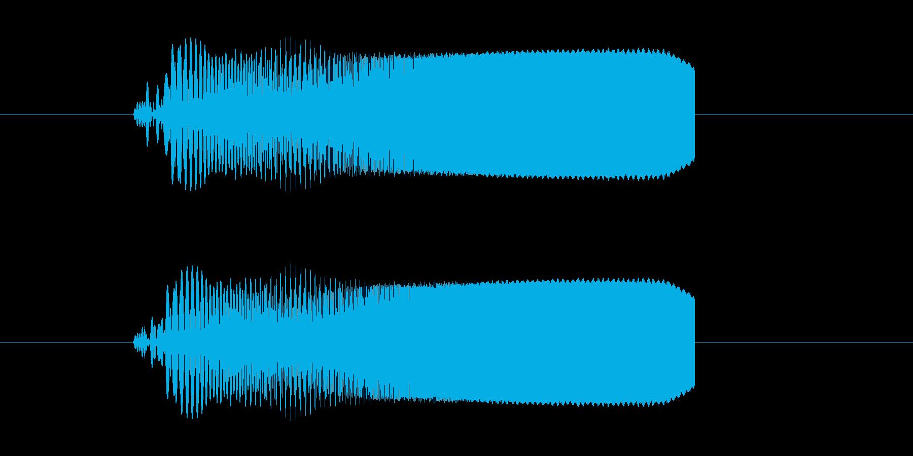ビビビビビュ!SF系電子音の再生済みの波形