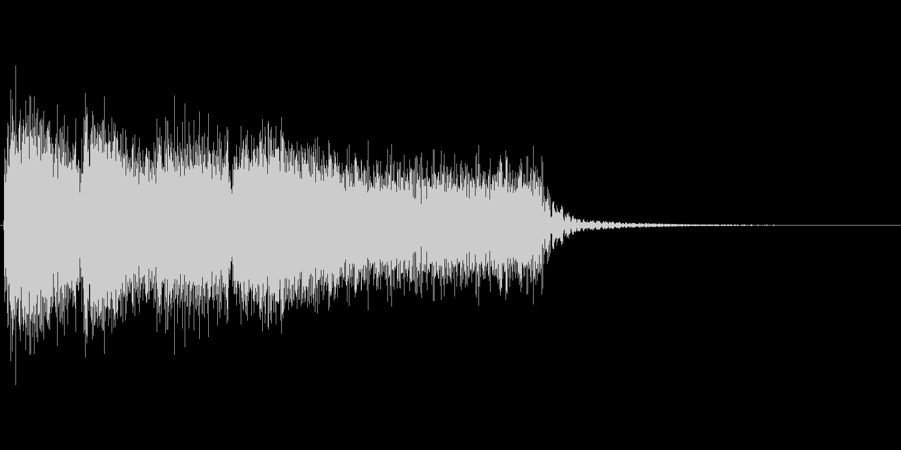 デーレーレーレー(残念、不正解、没収)の未再生の波形