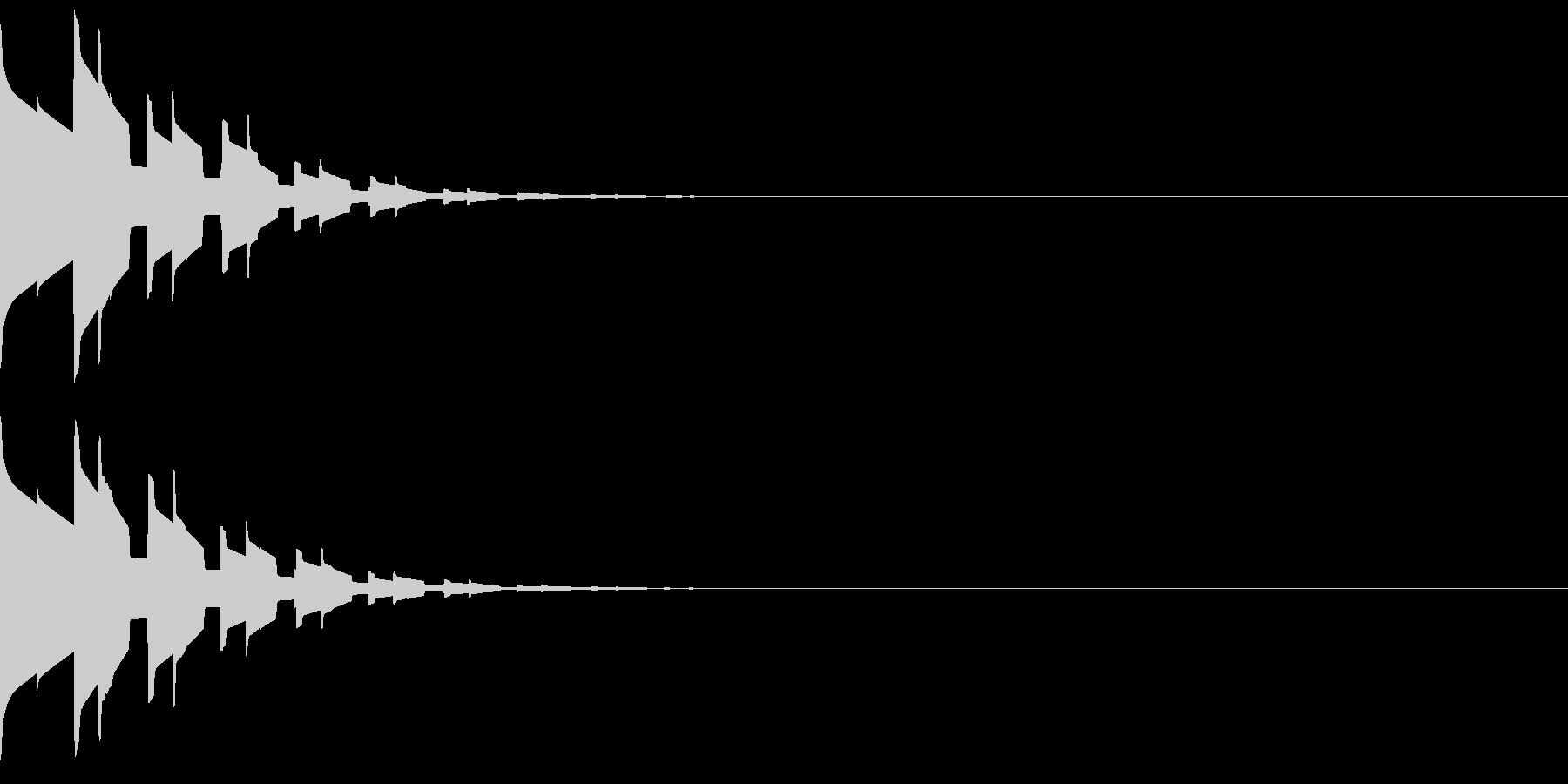 キラキラ(星、宝石、光る音)の未再生の波形