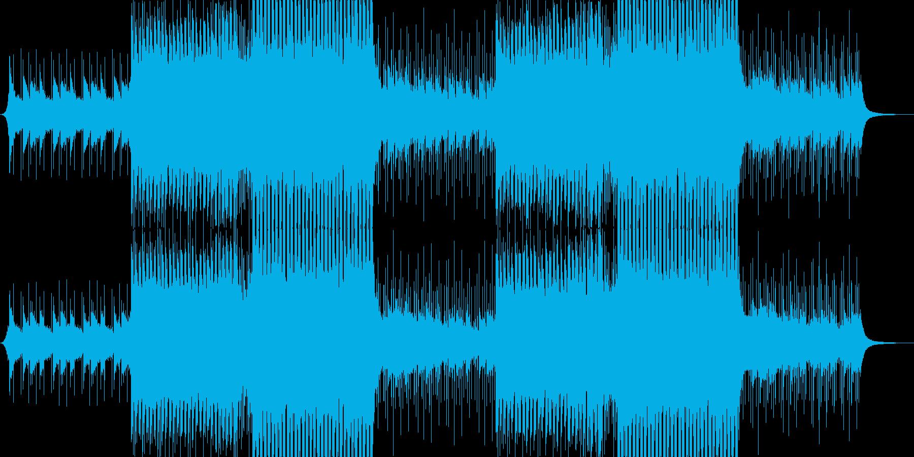 洋楽感のある夏らしいトロピカルハウス3の再生済みの波形