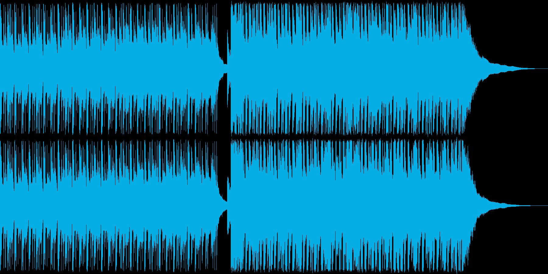 クラップで始まるカジュアルなポップスの再生済みの波形